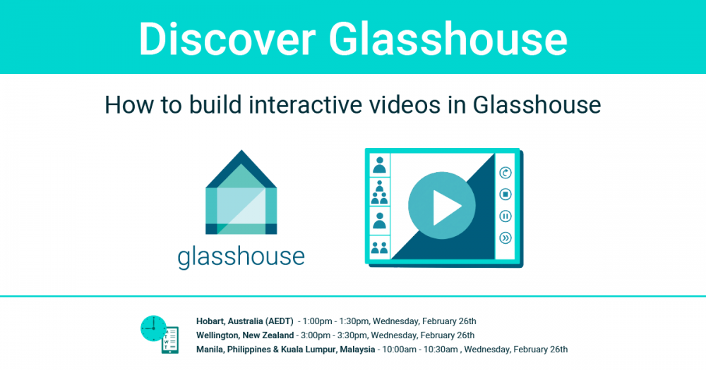 Glasshouse demo webinar graphics