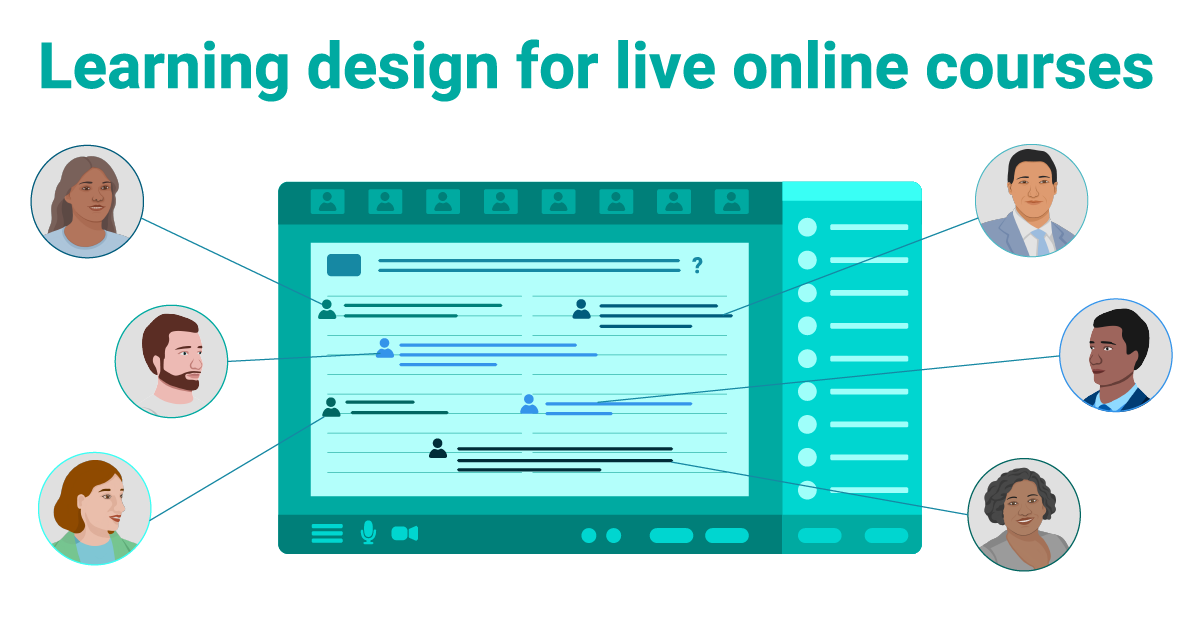 Learning design for live online courses